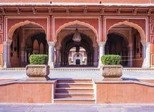 Stadspaleis Jaipur Rajasthan India Royalty-vrije Stock Afbeeldingen