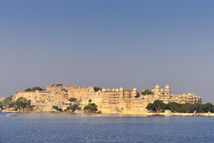 Stadspaleis in Udaipur India Royalty-vrije Stock Foto