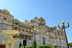Stadspaleis van udaipur Rajasthan Royalty-vrije Stock Fotografie