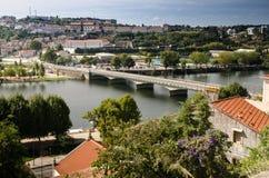 Stadspanorama av Coimbra Arkivfoton