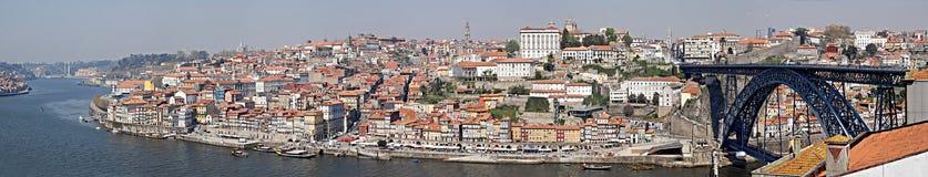 stadspanorama porto portugal Royaltyfria Bilder