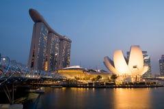 stadspanorama singapore Royaltyfri Bild