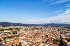 Stadspanorama van Florence Royalty-vrije Stock Foto's