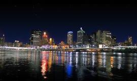 stadspanoramaflod Arkivfoto