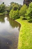 Stadspark市公园在安特卫普,比利时 库存照片