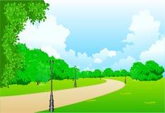 stadspark Arkivfoton