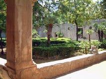 Stadspark in Dubrovnik royalty-vrije stock foto's