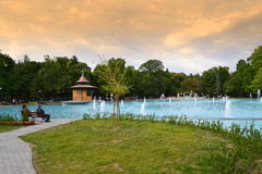 Stadspark fontein-Plovdiv, Bulgarije royalty-vrije stock afbeeldingen