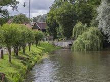 Stadspark in Kuldiga, Letland royalty-vrije stock foto's