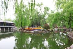stadspark långt Arkivfoton