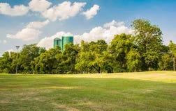 stadspark långt Royaltyfria Bilder