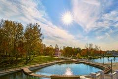 stadspark långt Arkivbild