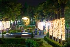 stadspark riviera sochi Arkivbild