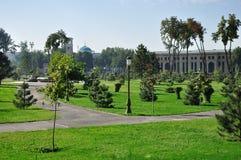 stadspark tashkent Arkivbilder
