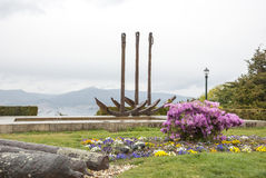 Stadspark in Vigo, Galicië Royalty-vrije Stock Foto