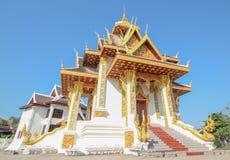 Stadspelare på Vientiane, Laos Arkivbild