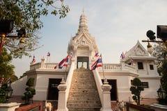Stadspelaren i historiska Ayutthaya parkerar, Thailand Arkivbilder