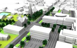 Stadsplan Arkivbild