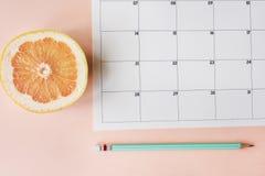 Stadsplanerare för schema för kalendertidsbeställningsdagordning royaltyfria foton