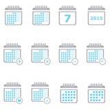 Stadsplanerarekalender Arkivfoton
