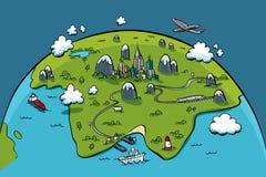 stadsplanet Royaltyfria Bilder