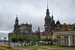Stadsplatz i Tyskland Fotografering för Bildbyråer