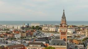 Stadsport av Dunkirk, i nordliga Frankrike stock video