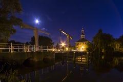 Stadsport i Leiden, Holland Arkivfoton