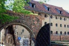 stadsport medeltida poland torun Arkivbilder