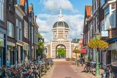 Stadsport Morspoort i Leiden, Nederländerna Royaltyfria Foton