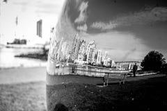 Stadsreflexion Arkivfoton