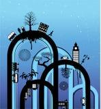 stadsregnbåge Arkivfoto