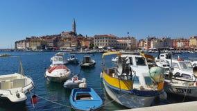 StadsRovinj Kroatien Arkivfoto