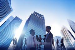 StadsScape affär Team Teamwork Meeting Collaboration Concept Fotografering för Bildbyråer