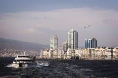 Stadsscape av izmir Royaltyfria Foton