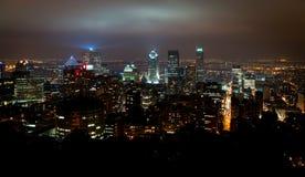Stadsscape av Montreal arkivbild