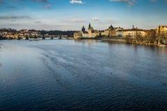 Stadsscape av Prague royaltyfri fotografi