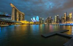 Stadsscape; Marina Bay Fotografering för Bildbyråer