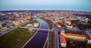 Stadsscape och flod Arkivfoton