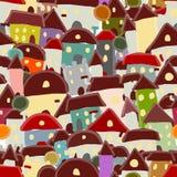 Stadsschets, naadloos patroon voor uw ontwerp Stock Afbeelding