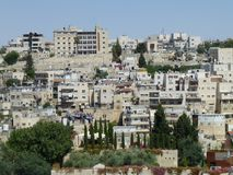 Stadssecties van Jeruzalem stock afbeelding