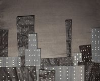 stadssepia stock illustrationer
