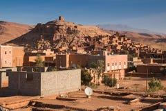 Stadssikt Ait ben Haddou, Marocko Royaltyfri Bild