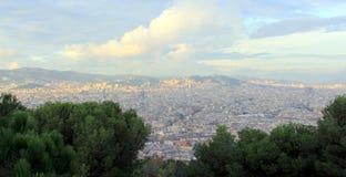 Stadssikt av Barcelona Royaltyfria Bilder
