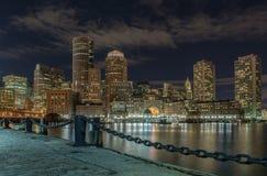 Stadssikt av Boston, Massachusetts, USA Arkivbilder