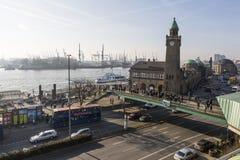 Stadssikt av Hamburg, Tyskland arkivbilder