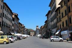 Stadssikt av Pescia, Italien Royaltyfria Foton