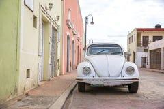 Stadssikt av Valladolid, Mexico Arkivfoton