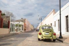 Stadssikt av Valladolid, Mexico Arkivbilder