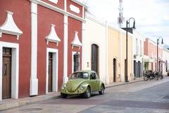 Stadssikt av Valladolid, Mexico Royaltyfri Foto